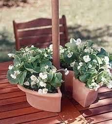Patio Table Flower Pots Umbrella Table Planter It Yard Garden