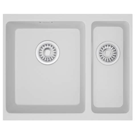 franke undermount kitchen sinks franke kubus kbg 160 fragranite 1 5 bowl undermount sink
