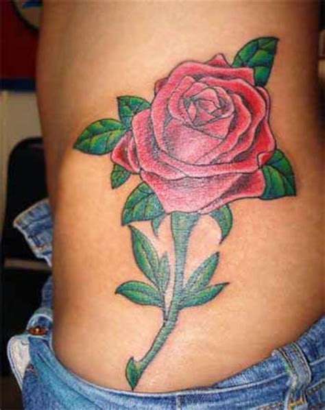 rose tattoo on side of stomach 70 awesome side belly tattoos
