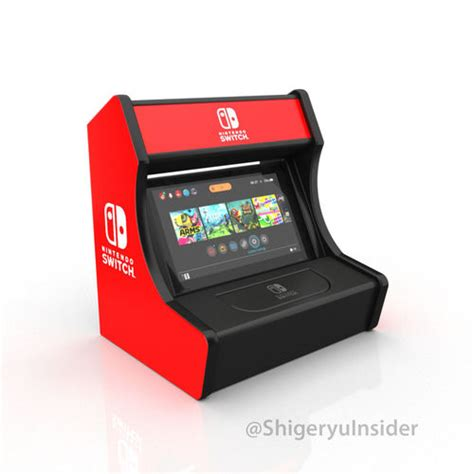 Nintendo Switch Arcade Stand 3d Print Model Game Cgtrader Nintendo Switch Arcade Cabinet Template