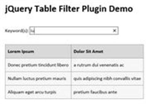 Jquery Filter Table by Bootstrap Plugin To Freeze Table Header While Scrolling