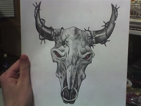 fantastic amazing bull skull tattoo cattle skull search reference photos