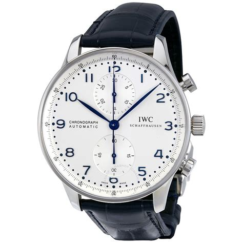 iwc portuguese chronograph automatic white s