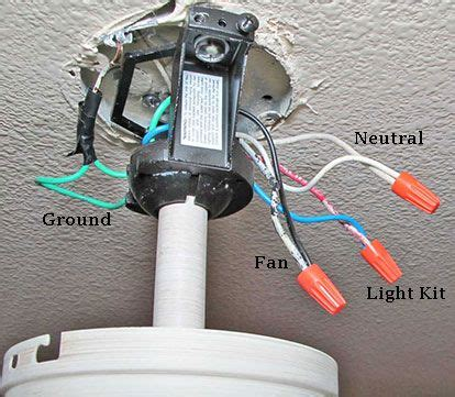 Ceiling Fan Wire Connection Ceiling Fan Switch Wiring Electrical 101