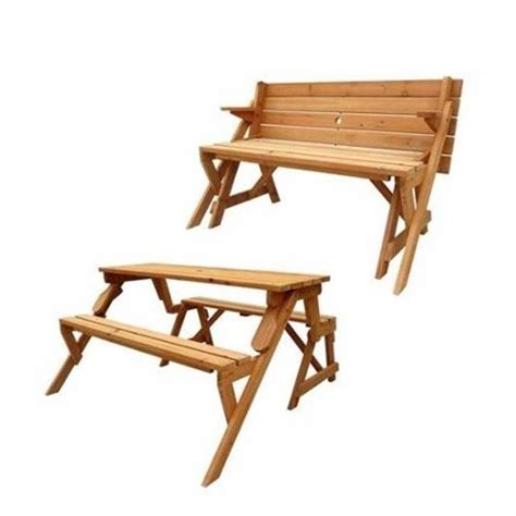 Folding Wooden Picnic Table Folding Picnic Table Wooden Garden Bench Outdoor Portable Furniture 2in1 Settee Ebay