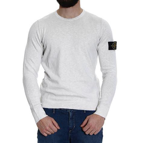 Sweater Island lyst island sweater knit crew neck cotton slubbed
