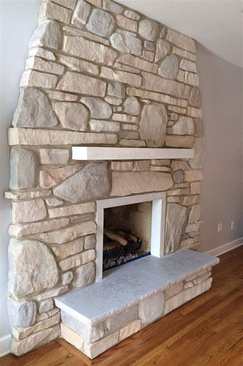 How To White Wash A Fireplace by White Washed Fireplace For Our Home