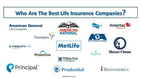 Best Life Insurance Companies   My Unbiased Insurance
