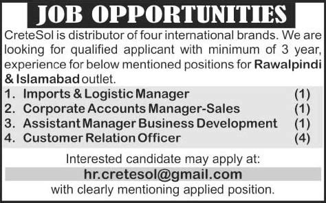 Mba Executive In Rawalpindi by Imports Accounts Business Development Manager