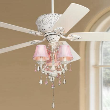 Girls Chandelier Ceiling Fan Casa Deville Pretty In Pink Pull Chain Ceiling Fan