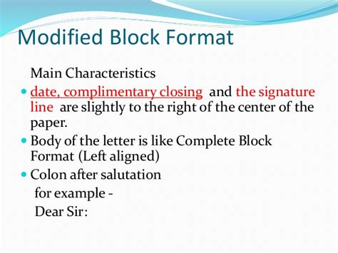 business letter signature left or right business letter formats
