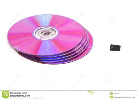 card cd dvd cd next to memory card stock photos image 18532953