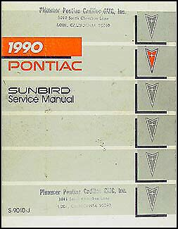 automotive repair manual 1985 pontiac bonneville electronic toll collection 1990 pontiac sunbird repair shop manual 90 se le gt original service oem book ebay