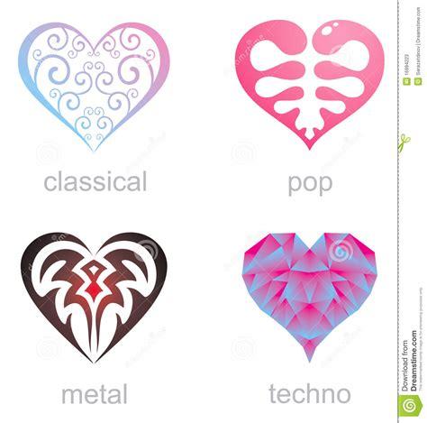 Imagenes De Corazones Musicales | cuatro iconos de corazones musicales fotos de archivo