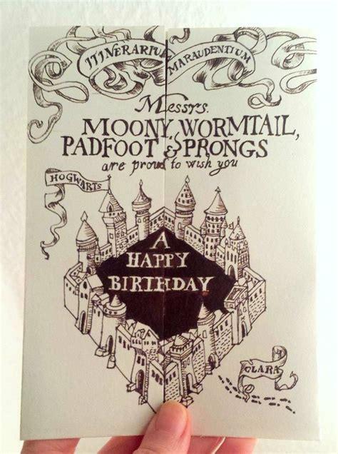 marauders map printable template card harry potter birthday card the marauders map karte des