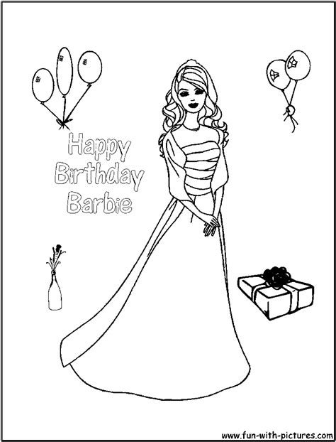 happy birthday barbie coloring pages calm happy fun coloring coloring pages
