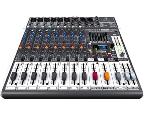 behringer xenyx x1222usb mixer 16 ingressi usb effetti