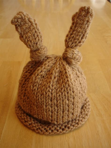 free baby hat knitting patterns fiber flux free knitting pattern baby bunny newborn or