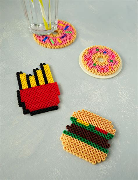 food perler diy fast food perler bead coasters the makeup dummy