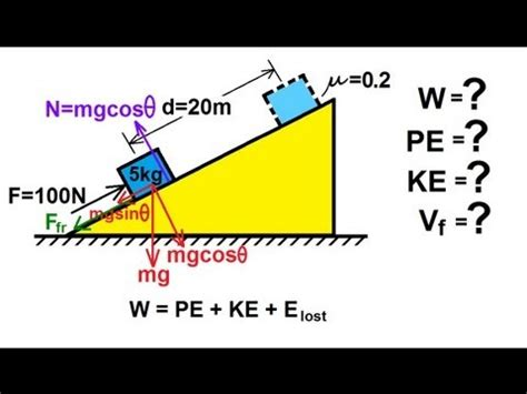 physics incline physics mechanics work energy and power 7 of 20