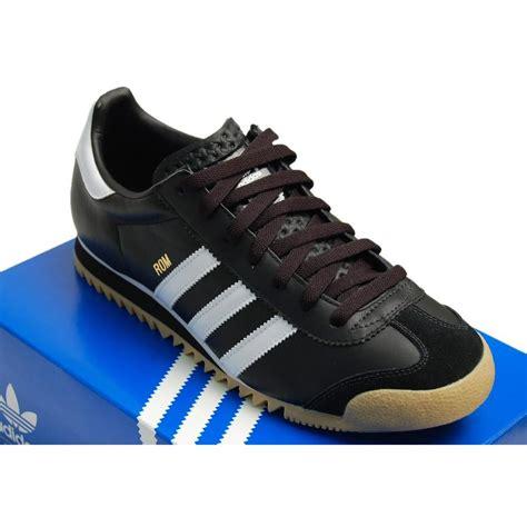 adidas originals rom black white mens shoes from attic clothing uk