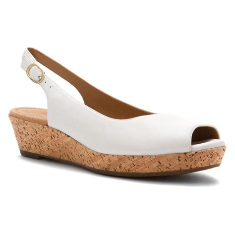 white sandals clarks women s orlena currant sandals in white leather