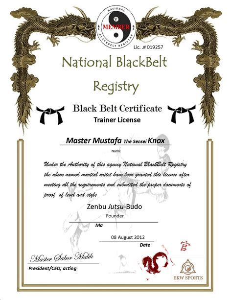 free martial arts certificate templates martial arts certificate borders studio design