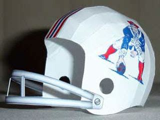 How To Make A Paper Football Helmet Step By Step - football helmet papercraft boston patriots houston