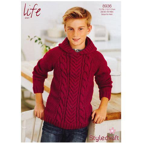 Fashion Boy Mc 9 I Bs3106 boy s cable jumper in stylecraft aran 8936