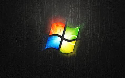 wallpaper logo windows  nuansa gelap