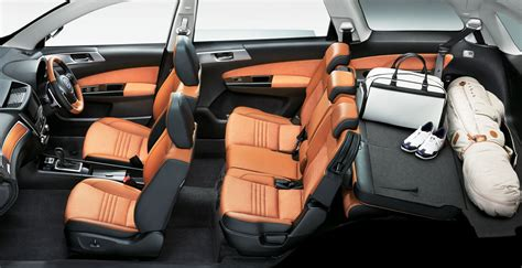 subaru exiga interior subaru introduces exiga crossover 7 in carscoops com