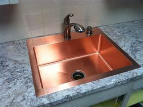 made drop in copper kitchen sink by kutz