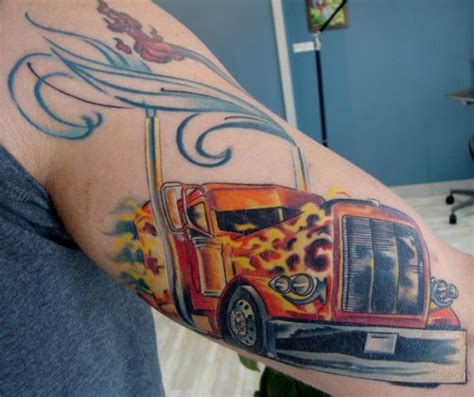 big rig designs ankle tattoos with a name