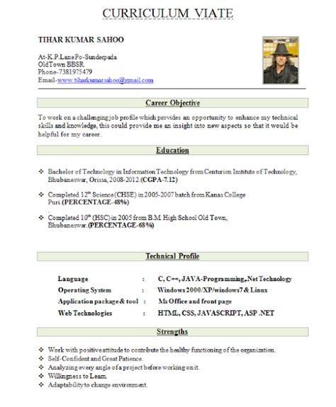 declaration format in resume for freshers best resume format for freshers