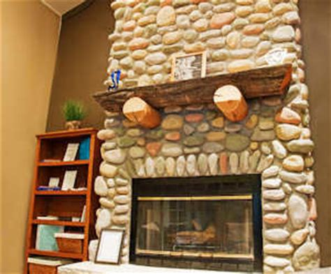 how to clean marker of a rock fireplace