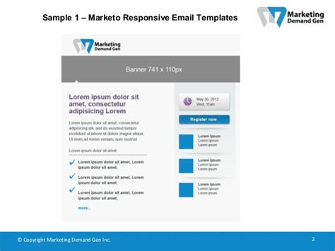 Marketo Responsive Email Templates Marketo Email Templates 2