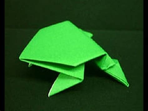 How To Make Frog Using Paper - how to make a paper jumping frog hd