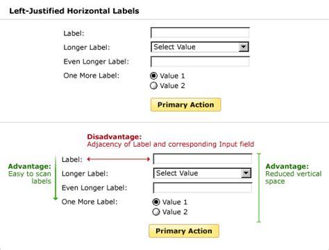 Design Form Labels | lukew web application form design