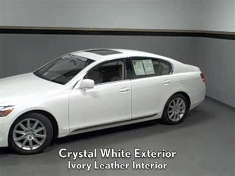lexus sedan white 2006 lexus gs 300 certified pre owned rwd sedan