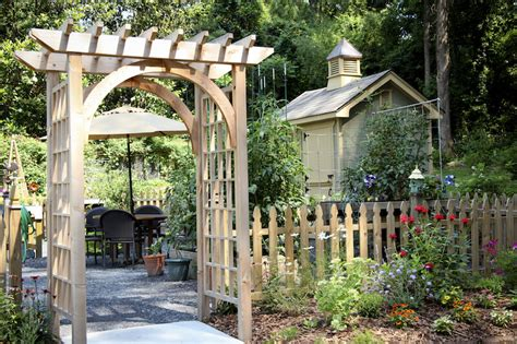 Outside Brick Wall Designs by 31 Backyard Arbor Designs And Ideas
