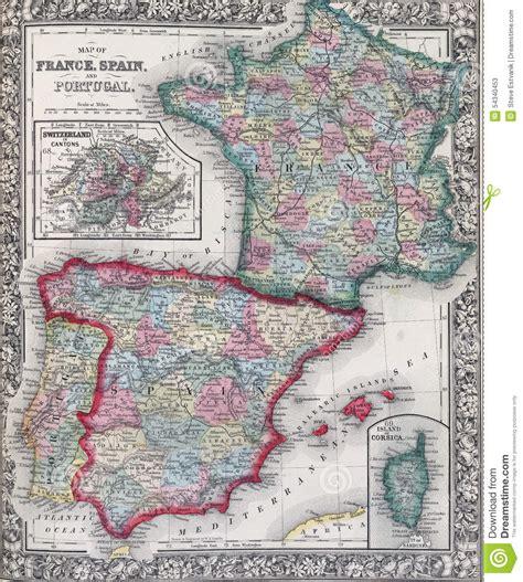 porto della francia mappa antica della spagna della francia e portogallo