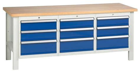 Industrial Workbenches With Drawers industrial workbenches with drawers cupboards ese direct