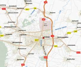 Colmar France Map by Colmar Map And Colmar Satellite Image