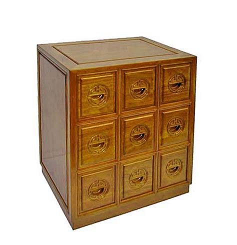 9 drawers cd cabinet ll carved