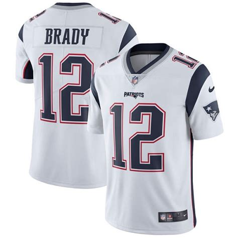 s new patriots 12 tom brady limited white jersey