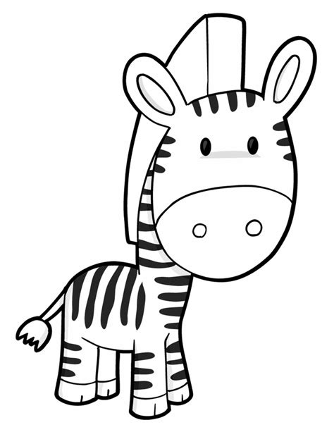 free coloring pages of baby zebras
