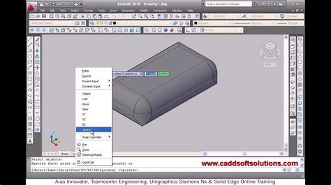 tutorial edit vscom autocad 3d solid editing tutorial video for beginner 16