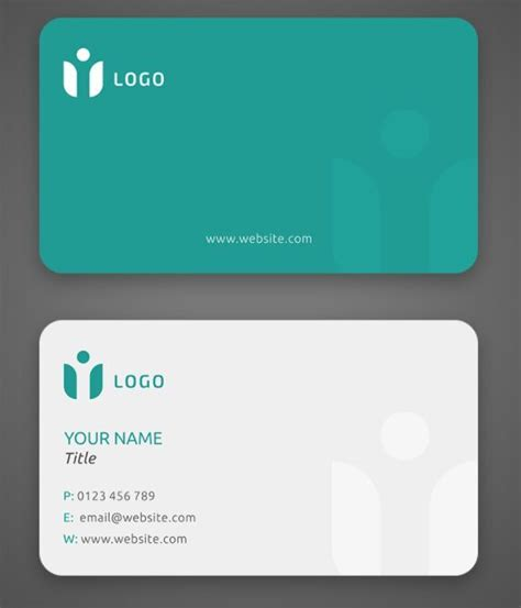 eco business card templates free minimal clean eco business card template psd titanui