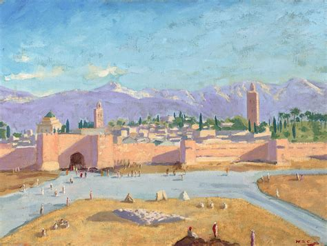 Moroccan Art History by The Tower Of Katoubia Mosque By Winston Churchill For Sale Extravaganzi