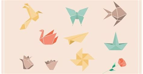 Popular Origami - origami craft illustration vectors 10 popular origami